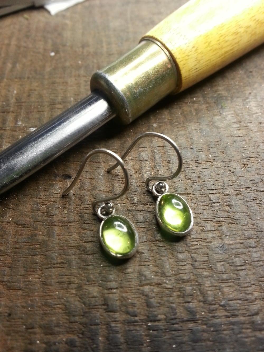 Sterling Peridot Earrings $150