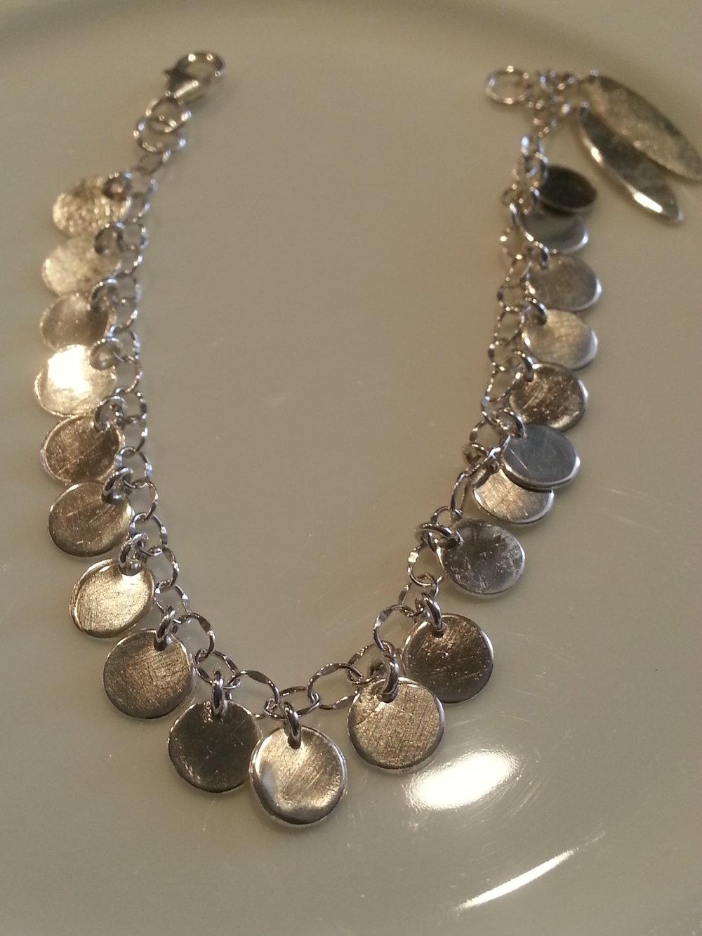Silver Drop Bracelet $400.00