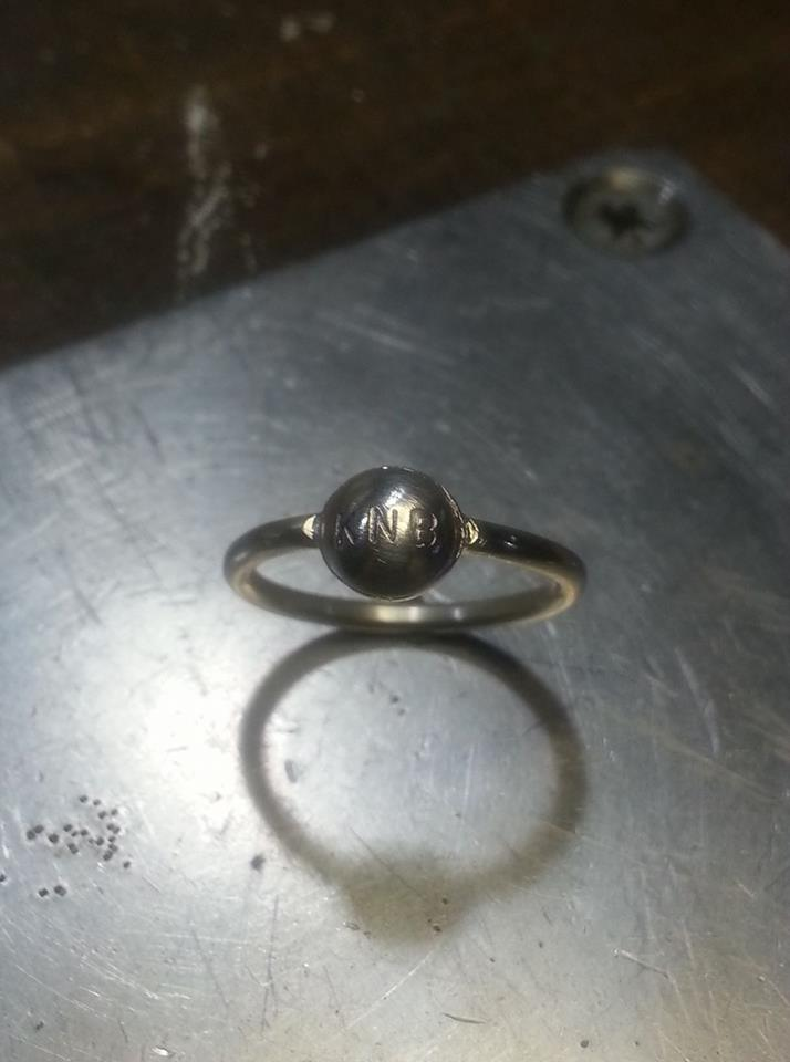 ID Ball Ring Sterling Silver $40