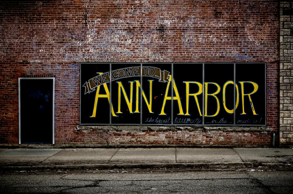 Ann Arbor Michigan window sign