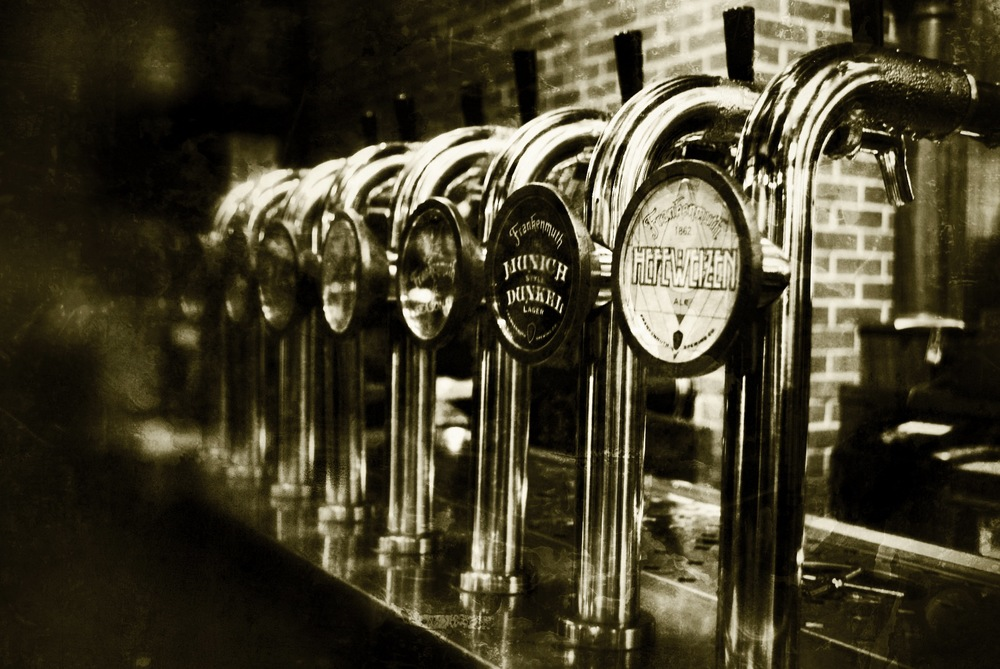 Tap Handles at Frankenmuth Brewery