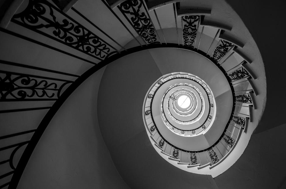 Cheer's staircase Boston