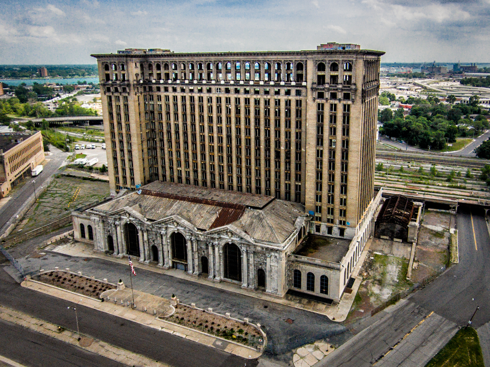 Michigan Central Station Aerial