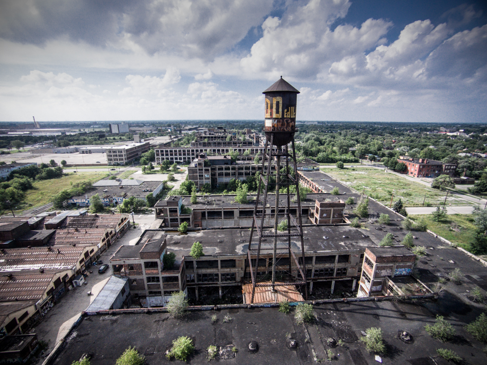Packard Plant Aerial