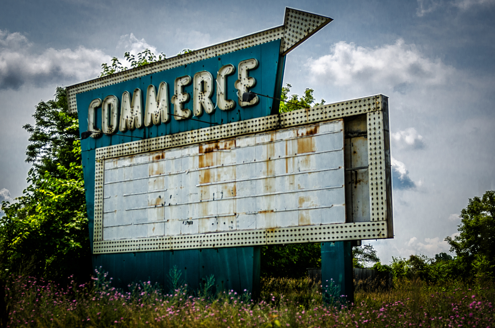 Old Commerce Drive in theater sign
