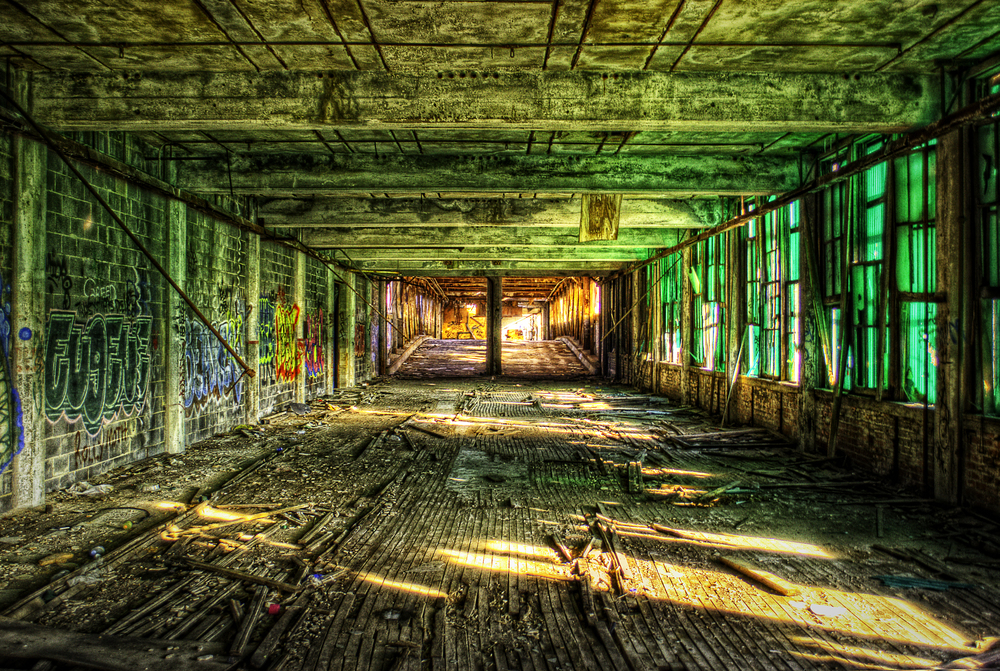 Packard Plant Hallway