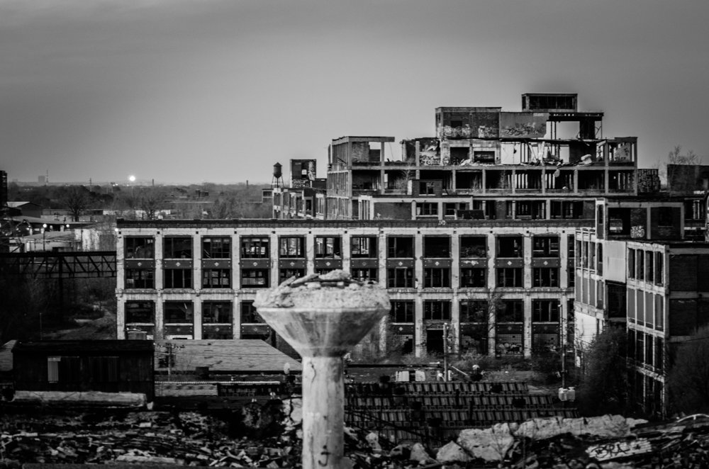 Packard Plant from roof