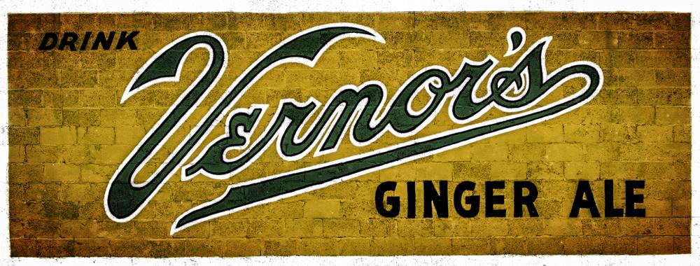 Vernor's Ginger Ale building sign