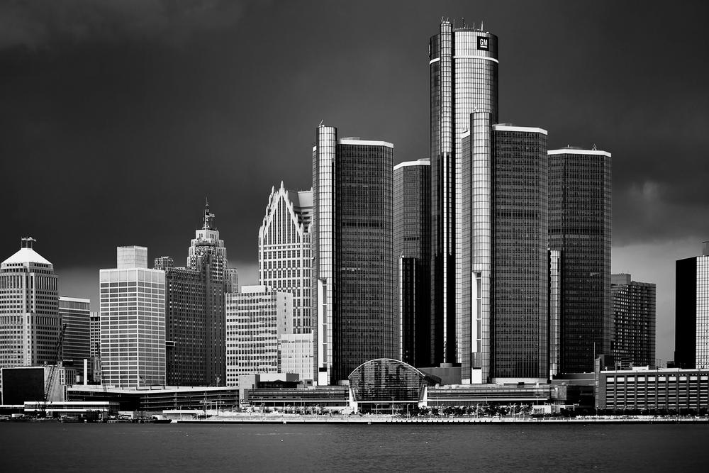 Detroit Ren Cen Skyline