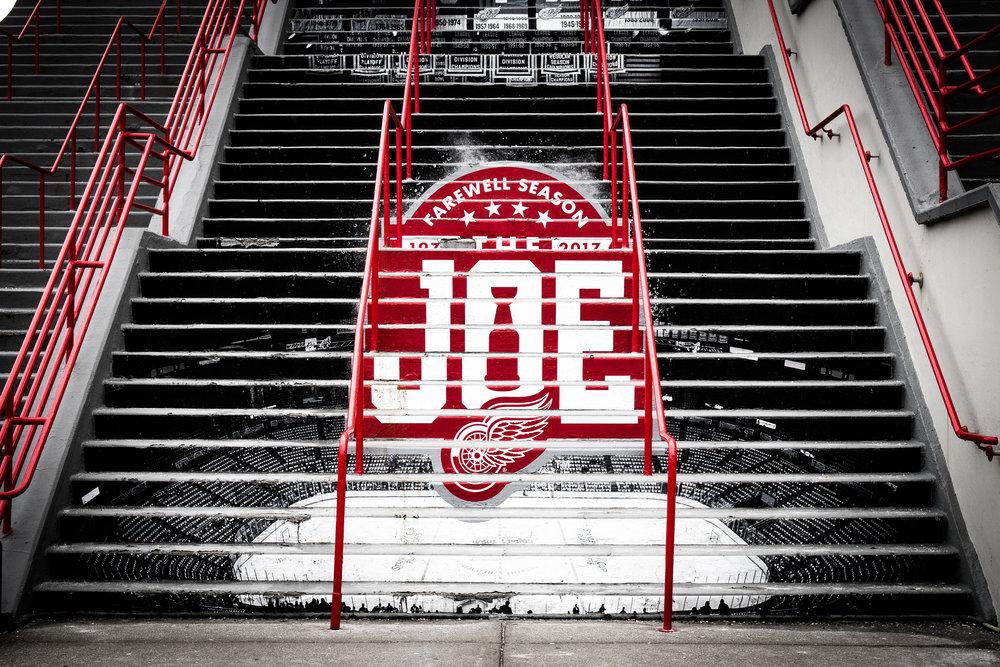 Joe Louis Arena Steps
