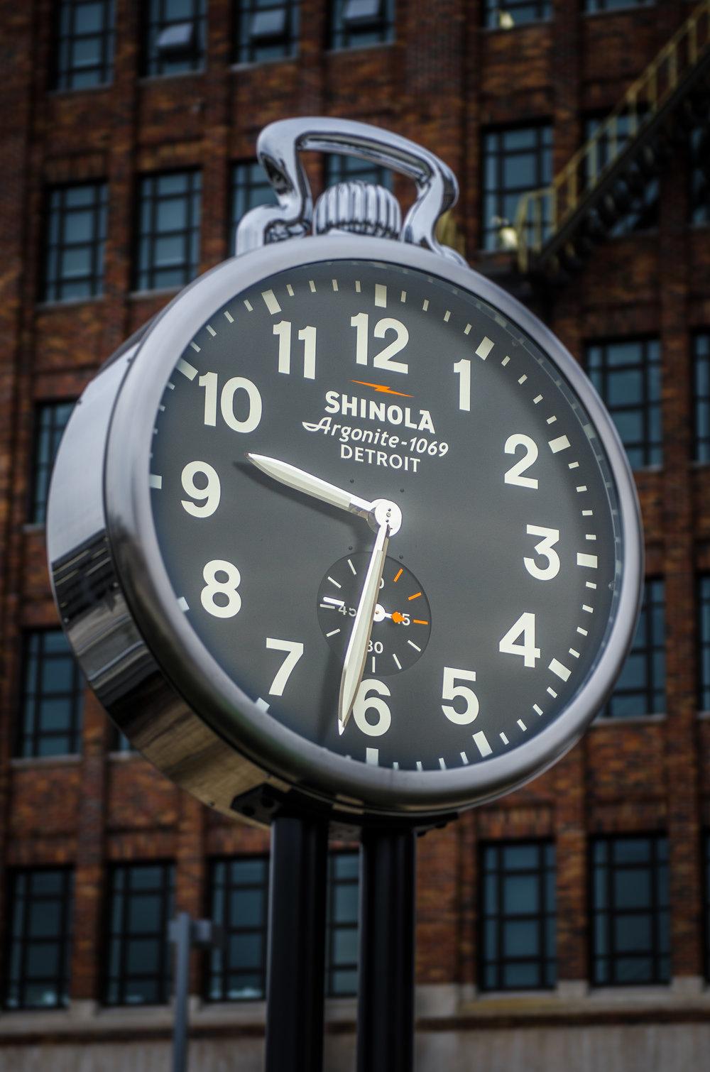 Shinola Clock Cass and Milwaukee