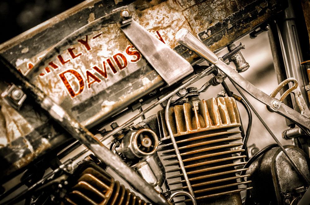 Old Harley Davidson engine