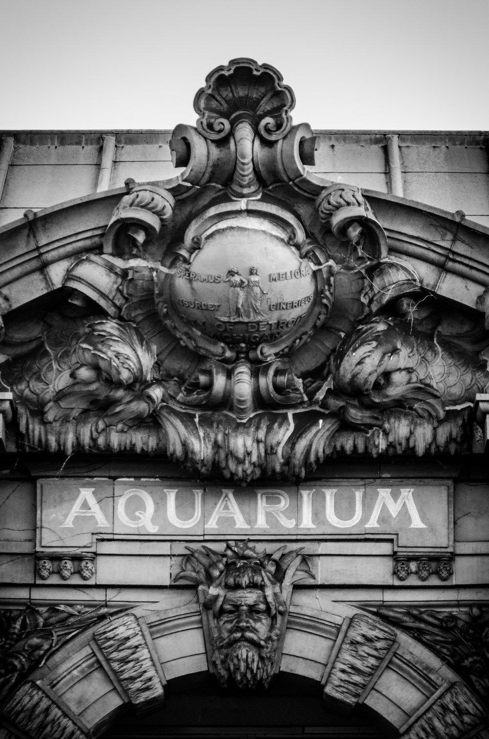 Belle Isle Aquarium entrance