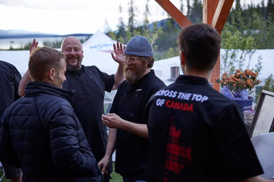 Pictured: Flight Across The Top of Canada | Edible Canada | Chef's Ned Bell, Jeremy Charles. Featuring: Custom MATT FAC2017 Jackets (Black).