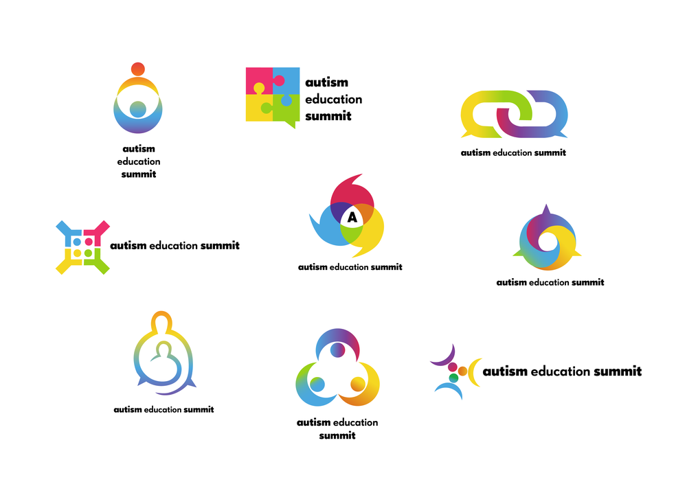 Logo development options for a parental autism summit.