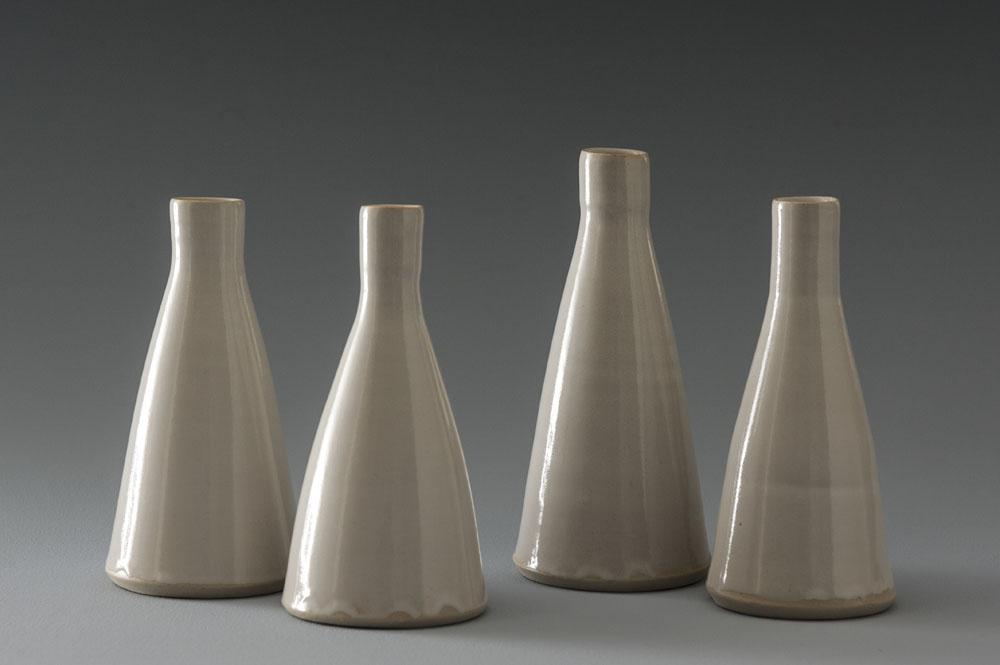 White Stoneware Vessels
