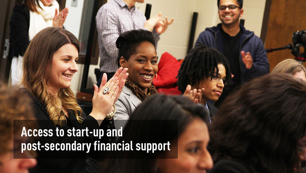 Access to start-up and post-secondary financial support