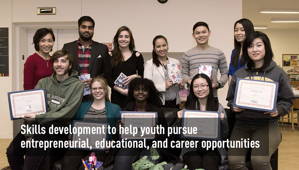 Skills development to help youth pursue entrepreneurial, educational, and career opportunities