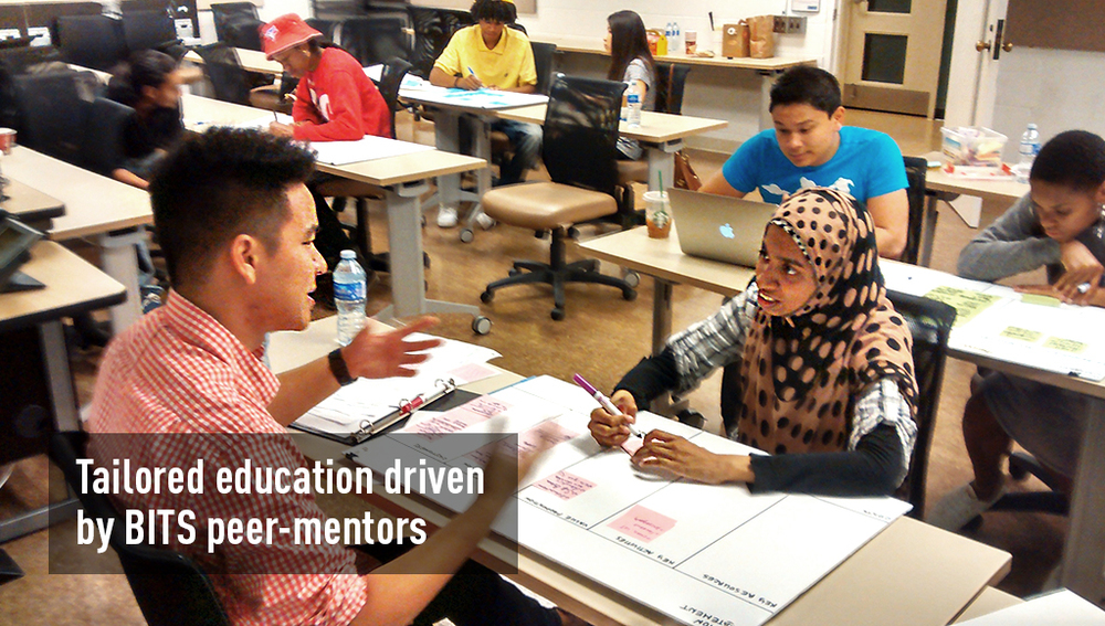 Tailored education driven by BITS peer-mentors