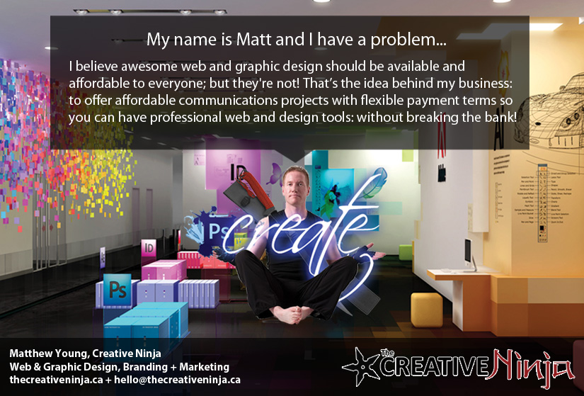 The Creative Ninja gets training and a $5,000 boost from BITS! Read Mathew's story here!
