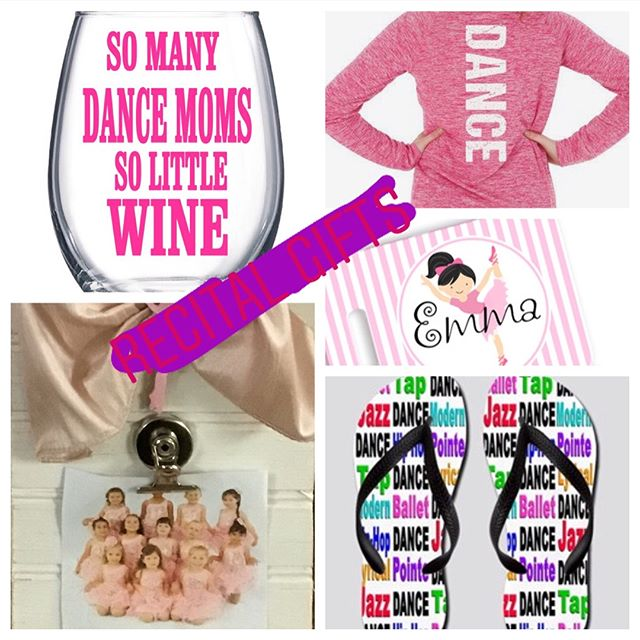 Lots of personalized gifts for the last weekend of dance recitals, we even have gifts for mom and dad! 🎟 #dancerecital #dance #dancemoms #darnellsfunstuff #dancegift