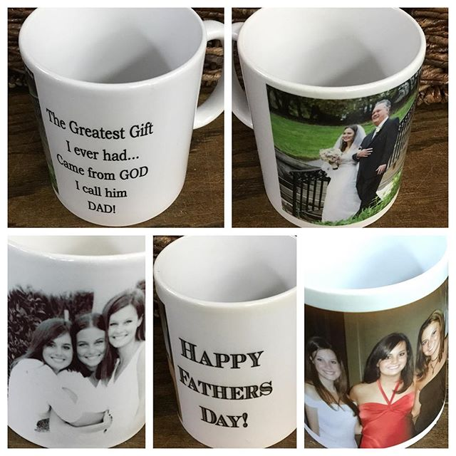 Personalized mugs make Great gifts for dad!Bring us your favorite photo and we will have you ready next day! #fathersday #personalizedmug #fatherofthebride #bestdadever #shopvestavia #darnellsfunstuff
