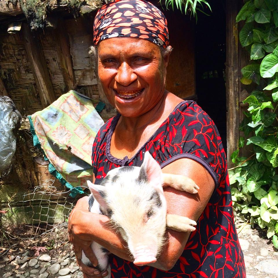THE ZAREPHATH INITIATIVE    Meet Mama Anna (and her new piglet 'Snookie') from the remote and rugged province of Chimbu in Papua New Guinea. Anna was the first recipient of our new project called 'The Zarephath Initiative' (based upon the story found in 1 Kings 17:7-24 of a man of God who economically empowered a widow) through which we will seek to provide financial independence to widows, single mothers, and abandoned women and in so doing produce tangible societal transformation. We believe that it is  the obligation of the Church to create an atmosphere which enables women to become economically self-sufficient and by purchasing livestock and partnering with these disenfranchised women who will care for the animals and share in the future harvest we believe that we can contribute greatly to a societal shift which will produce economic equality. Anna has suffered much over the course of her life.... but we are blessed to plant this seed of hope for her tomorrow. Thank you to our partners who give to make this ministry possible.