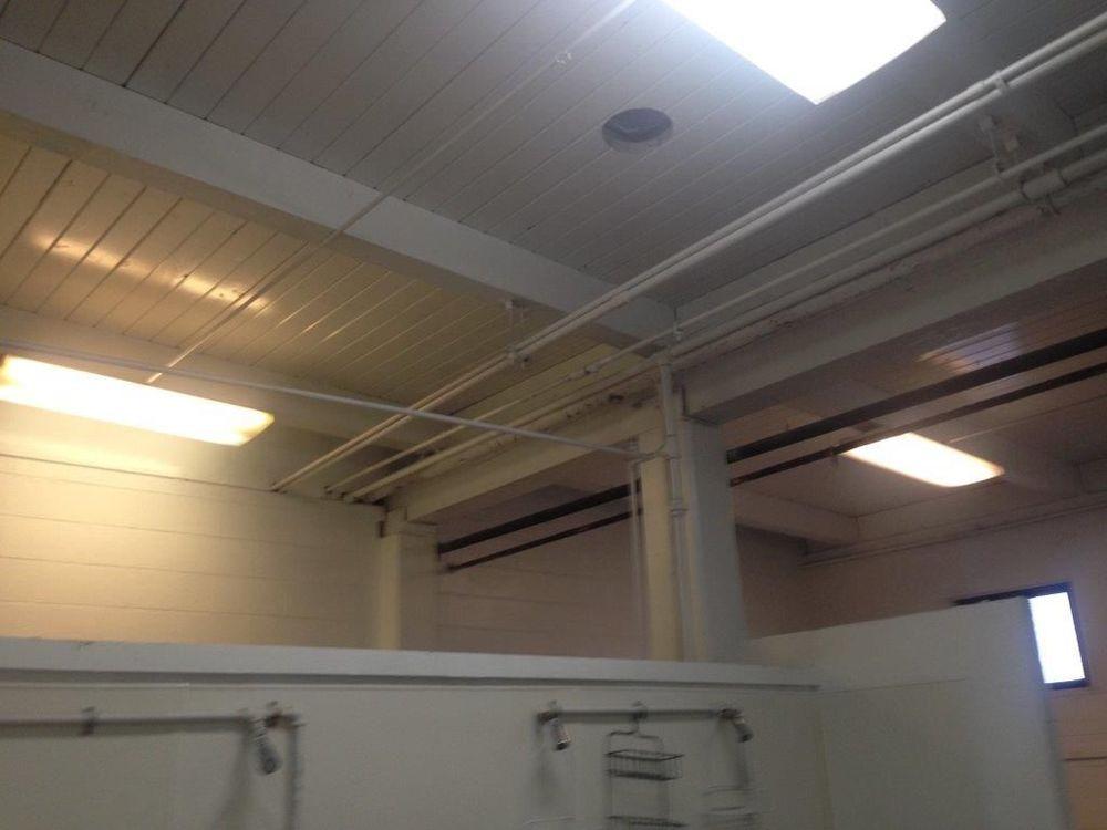 Pool locker room BEFORE
