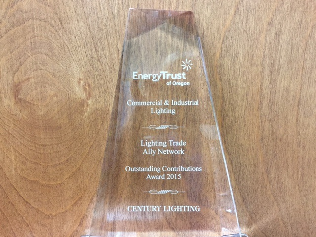 ETO, Energy Trust of Oregon, Award, Lighting Trade Ally, Outstanding contributions Award