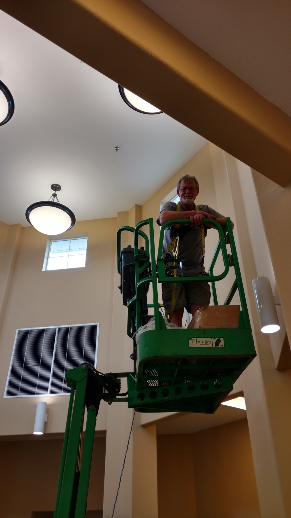 Senior Care Communities, Commercial Pendant Lighting Maintenance