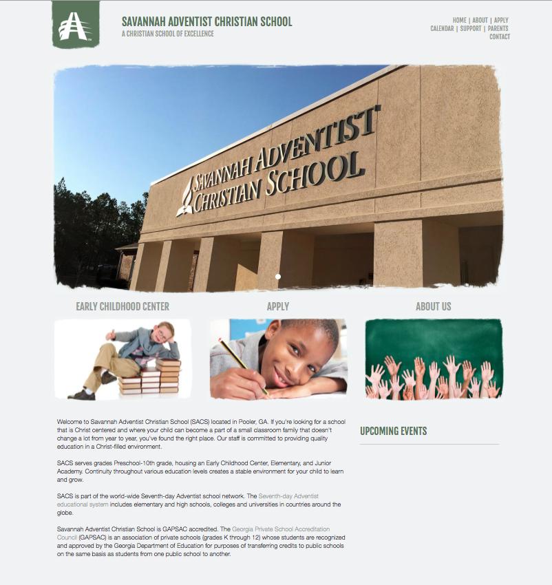 Re-designed Savannah Adventist Christian School website.
