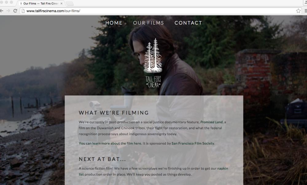 Created for our film company, Tall Firs Cinema.http://tallfirscinema.com