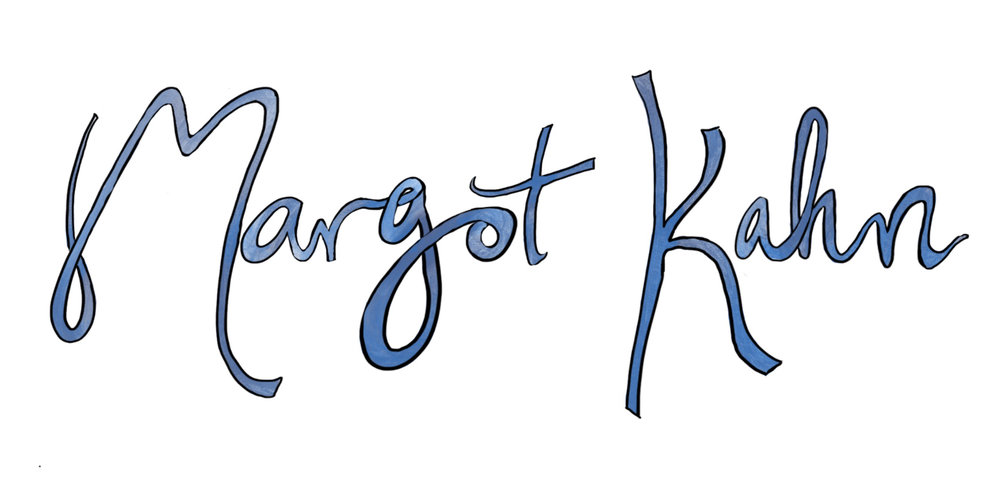 Logo design for author Margot Kahn's website