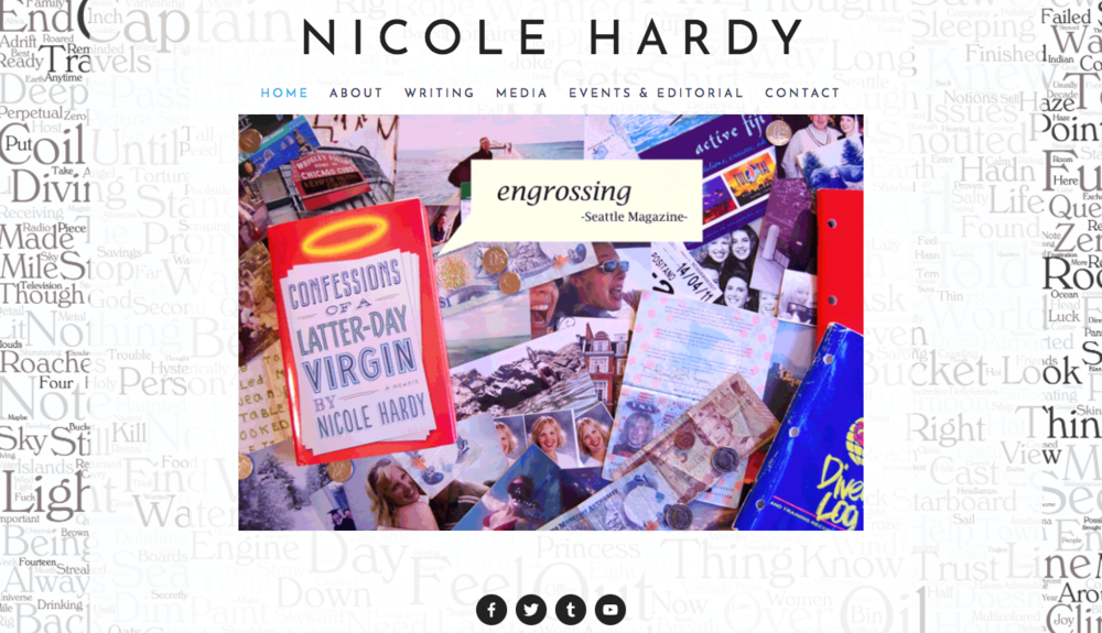 Website for author Nicole Hardy.  http://authornicolehardy.com/
