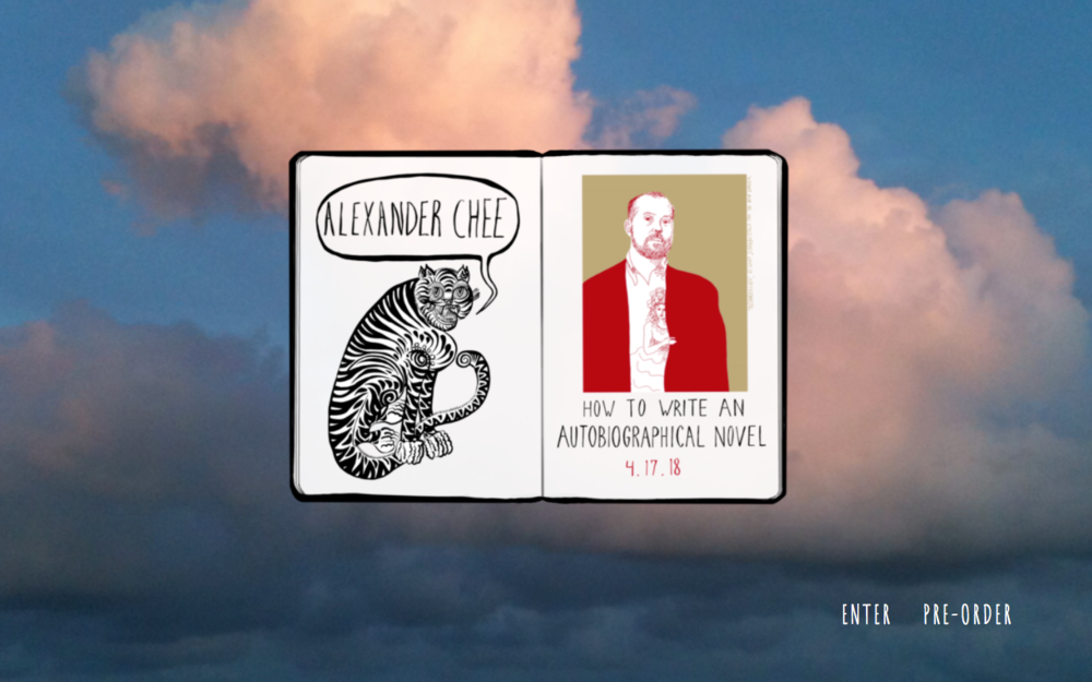Illustration & website created for Alexander Chee:  http://alexanderchee.net