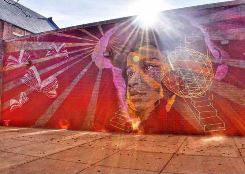 #ARTPLUSPURPOSE Photo Contest Winner! Alfie del Rosario's photo of Lmnopi's mural in Harlem, NYC for Not A Crime
