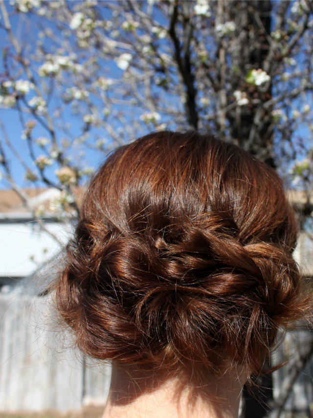 Low Chignon Updo | A Dash of Salter
