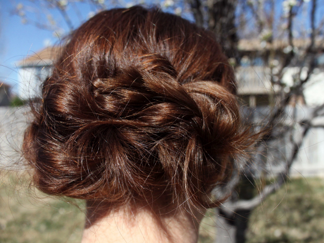 Chignon Updo Back View | A Dash of Salter