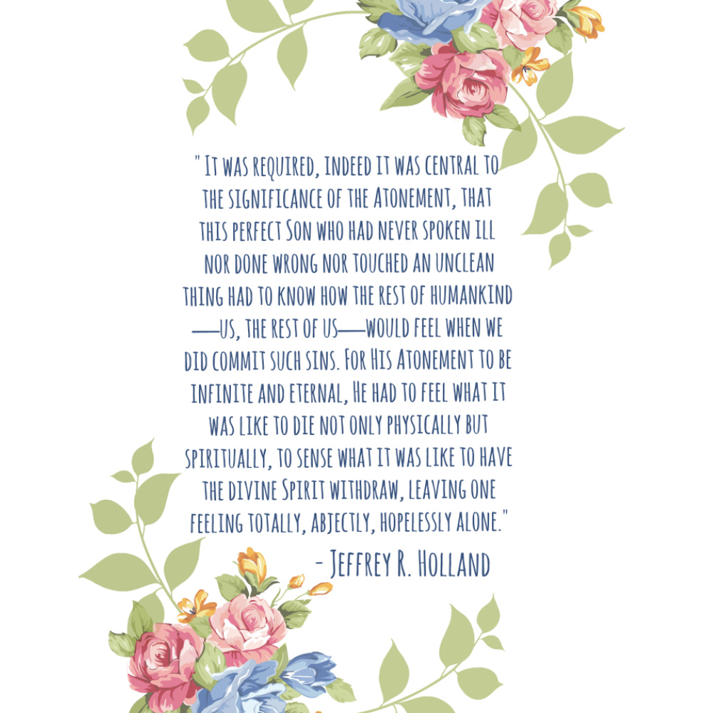 Easter Quote Freebie | Jeffrey R Holland | A Dash of Salter