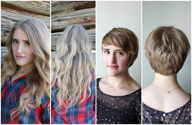 Before and After | Perfect Pixie | HairMax Salon | A Dash of Salter