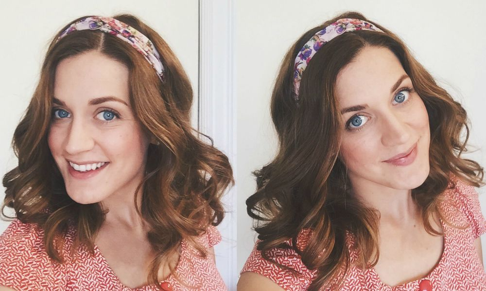 No Heat Headband Curls || Video Tutorial || Styled by Cheree || A Dash of Salter