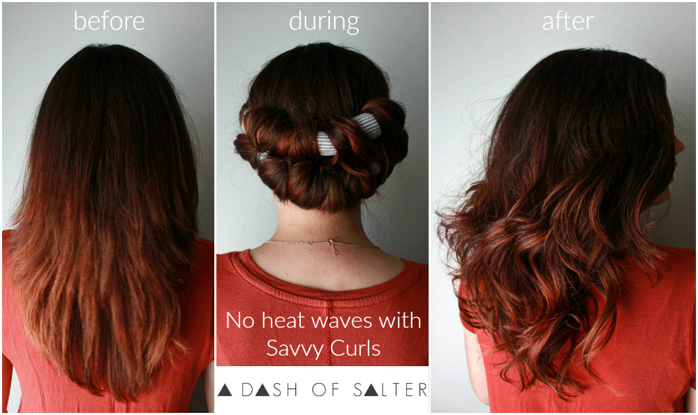 No Heat Waves with Savvy Curls || ADOS || no heat curl method, beauty, style, healthy, hair