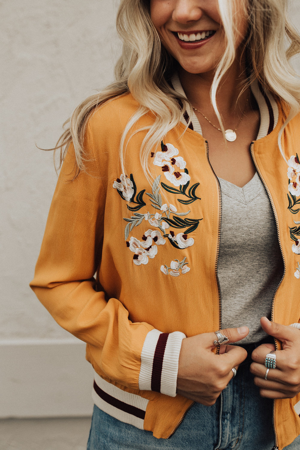 Orion Embroidered Bomber Jacket