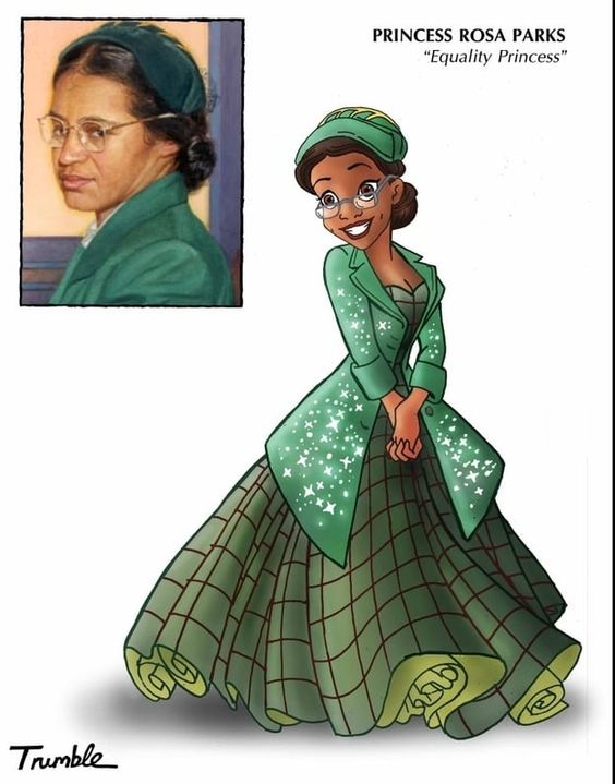 Okay, this is just Tiana all growed up.