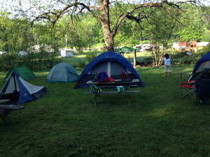 Our tents! The tent closest to the front left was mine!