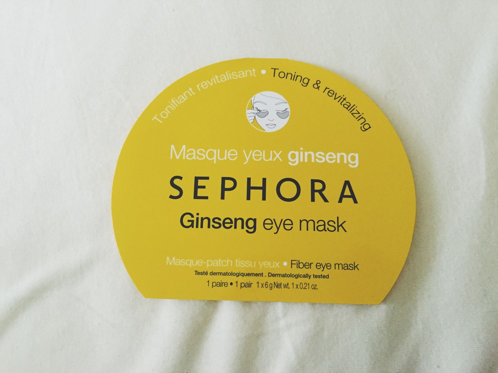 Toning & Revitalizing Ginseng Eye Mask, $6.00, Sephora