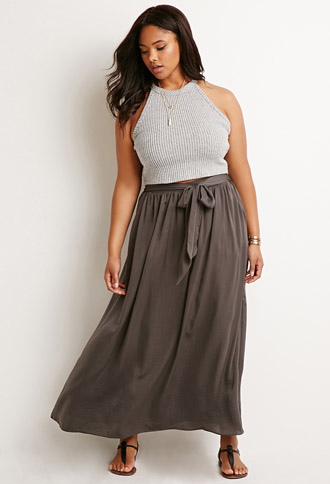 Belted Maxi Skirt, $22.90