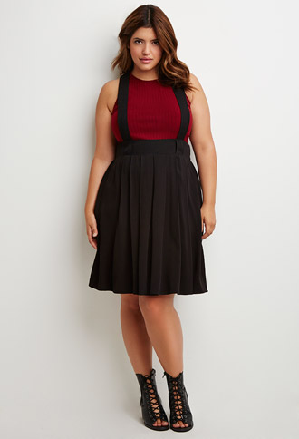 Box Pleated Overall Skirt, $27.90