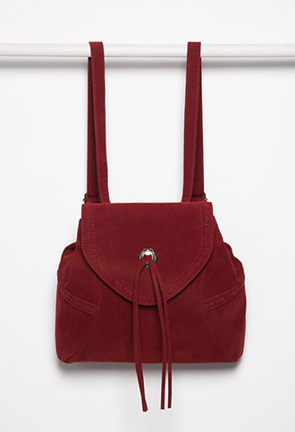 Faux Suede Backpack, $29.90