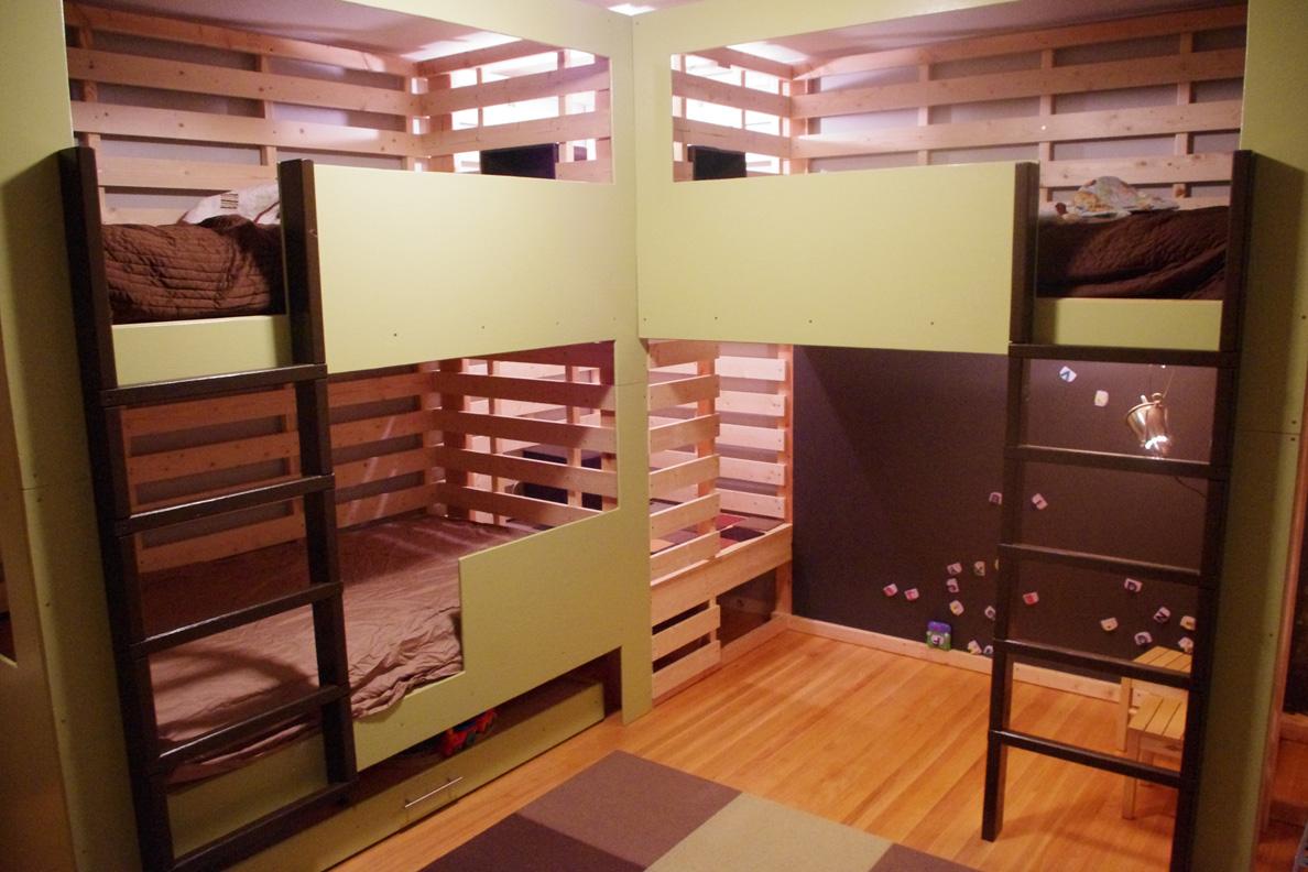 Triple Bunk Bed Stone Tent Architecture
